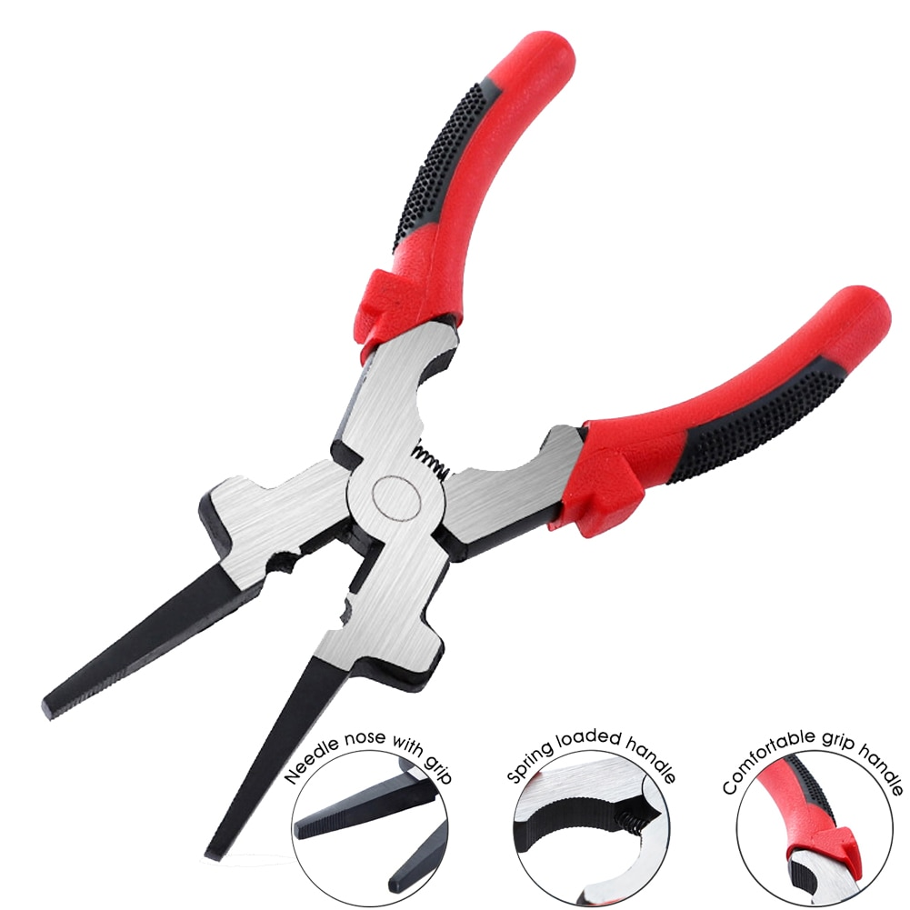 1pcs 8''Multitool Multi Purpose MIG Welding Quality Carbon Steel Insulated Handle Crimping Pliers Wire Cutters Pliers Accessorie