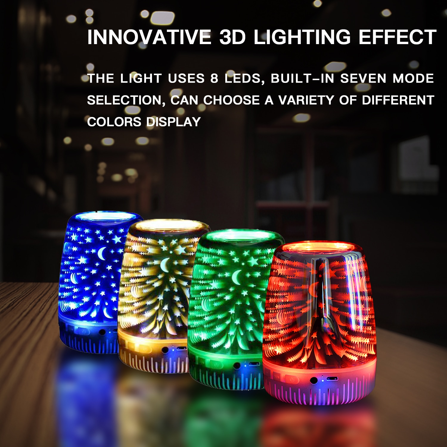 Brilliant Lights RGB Wireless  Rechargeable Perfect Mini Night Light Bluetooth Speaker For Shower, Home, Outdoor