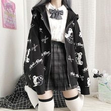 Gothic Coat Sweatshirt Women Fashion Spring Autumn 2021 Plus Clothes Ins Preppy Kawaii Hoodies Long