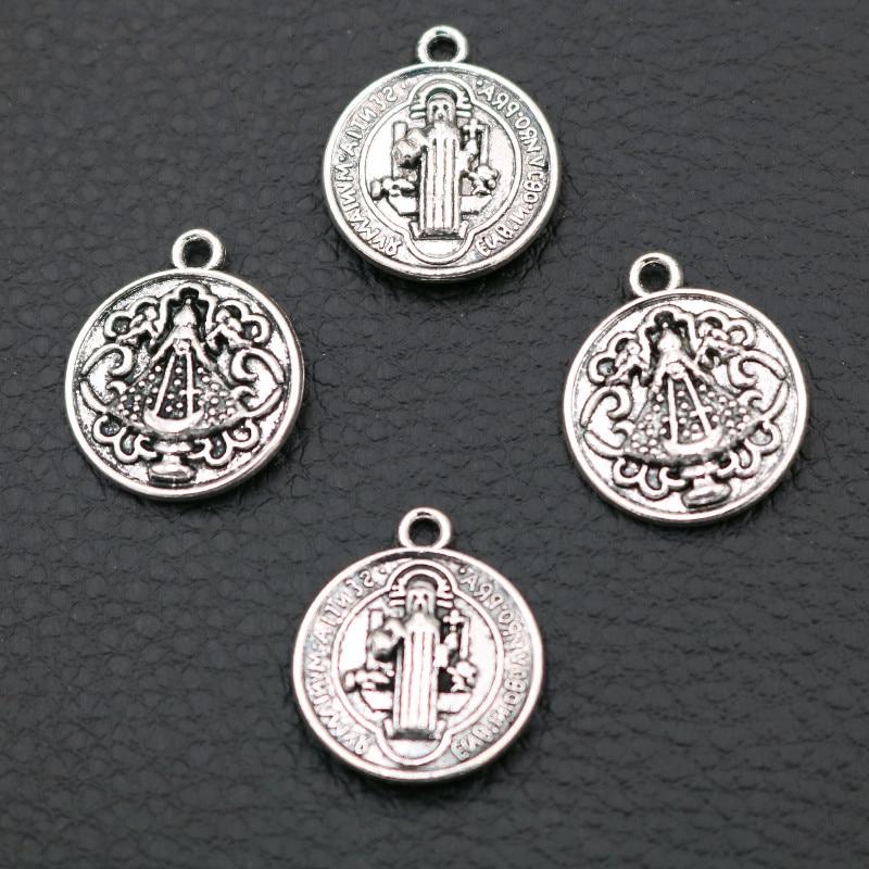 10 pièces pendentifs chrétiens rétro, breloques saint-père dieu, breloques saint-esprit, breloques de bijoux faits main bricolage, 21*18mm A2151