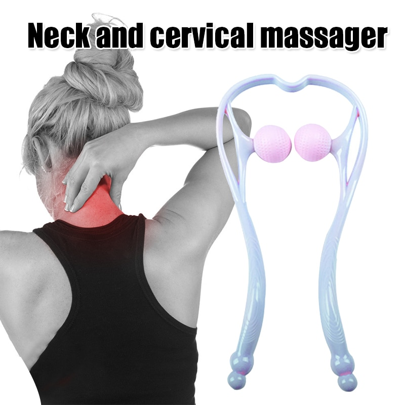 Neck Massager Shiatsu Deep Tissue Dual Trigger Points Shoulder Massager with Ergonomic Handle Design FRE-Drop