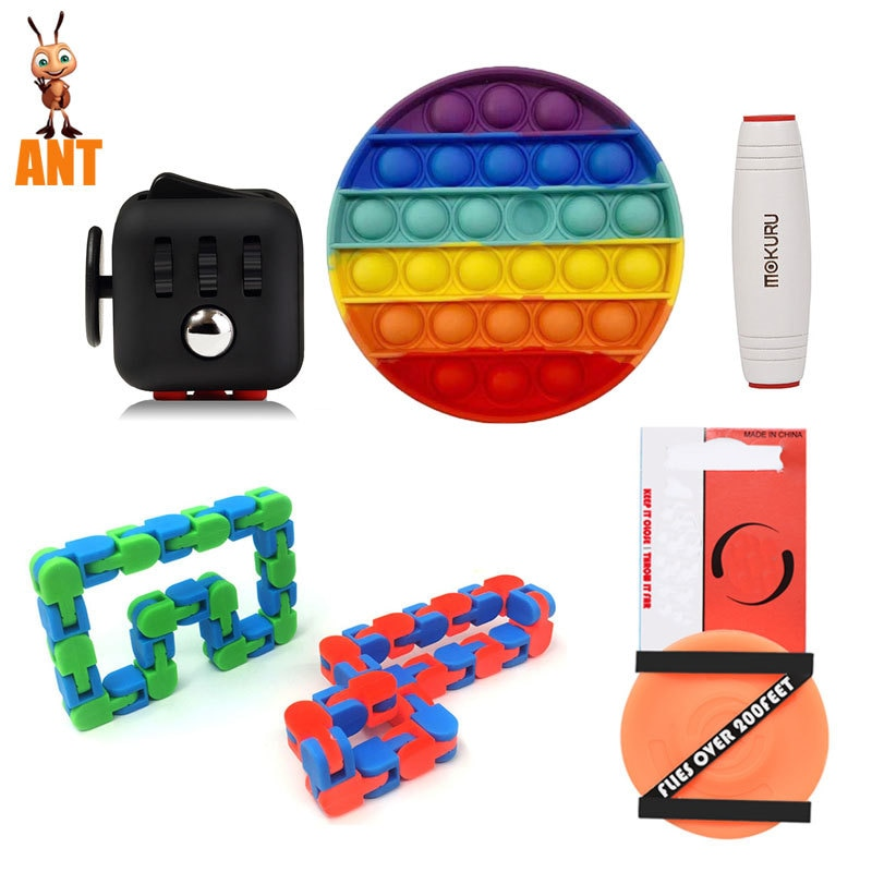 Figet Toys Anti Stress Set Stretchy Strings Pop Es Popit Gift Pack Adults Children Squishy Sensory Antistress Relief enlarge