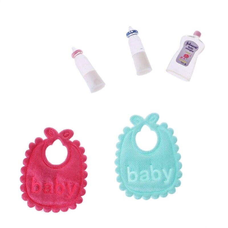 Nuevo juego de biberones de champú para bebés 112, accesorio de guardería en miniatura para casa de muñecas