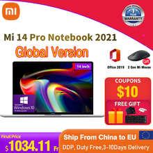 Ноутбук Xiaomi Mi 14 Pro, 16 ГБ ОЗУ, 512 Гб ПЗУ, ноутбуки, телефон, компьютер, 1920x1080 IPS, Windows 10 PRO