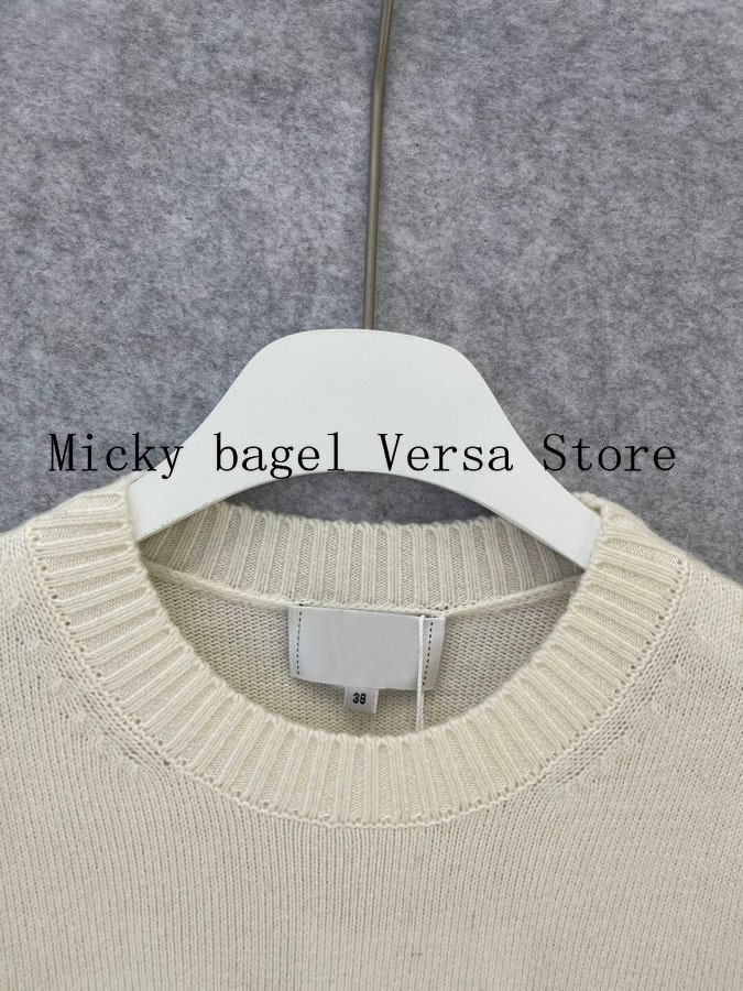 2021 luxury brand letter button printing fashion women's top temperament round neck versatile loose casual long sleeve Pullover enlarge