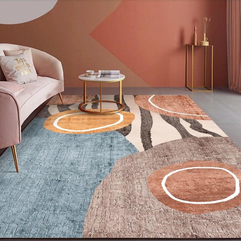 سجادة غرفة معيشة أريكة طاولة القهوة وسادة ضوء الأمريكية الفاخرة المنزل الحديثة الحد الأدنى سجادة غرفة النوم مساحة كبيرة