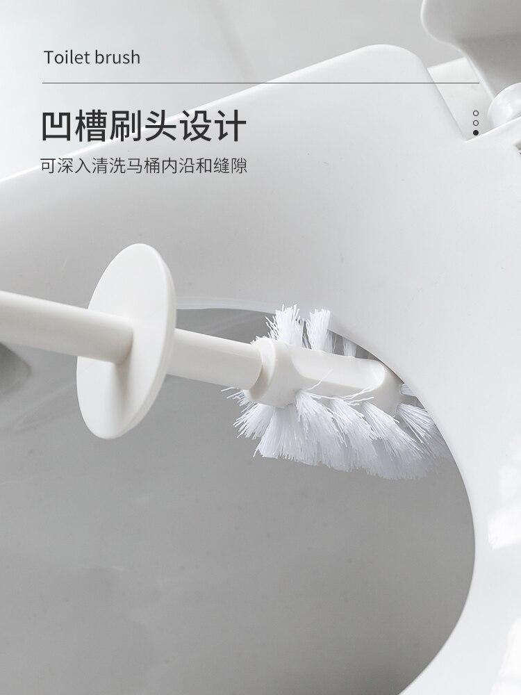 Durable Creative Toilet Brush Set Plastic Long Handle Toilet Brush White Thorough Cleaning Escobilla Wc Bathroom Products DK50TB enlarge