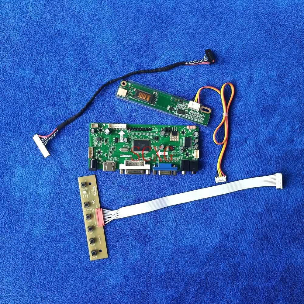 عدة لوحة تحكم LVDS 30-Pin 1CCFL VGA DVI HDMI-متوافق مع تناسب HSD150PX14/HSD150PX15/HSD150PX16/HSD150PX17 مراقب 1024*768