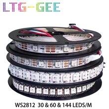 LTG-GEE 5V WS2812B WS2812 Led Strip Individually Addressable Smart RGB Led pixel strips Black/White PCB Waterproof IP30/65/67