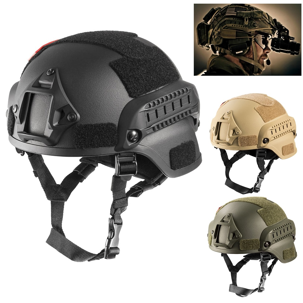 MICH2000 Airsoft Helmet MH Tactical Helmet Quality Lightweight FAST Outdoor Tactical Riding Protective Helmet Airsoft equipment airsoft paintball tactical helmet protective fast helmet abs tactical mask with goggles cs equipment