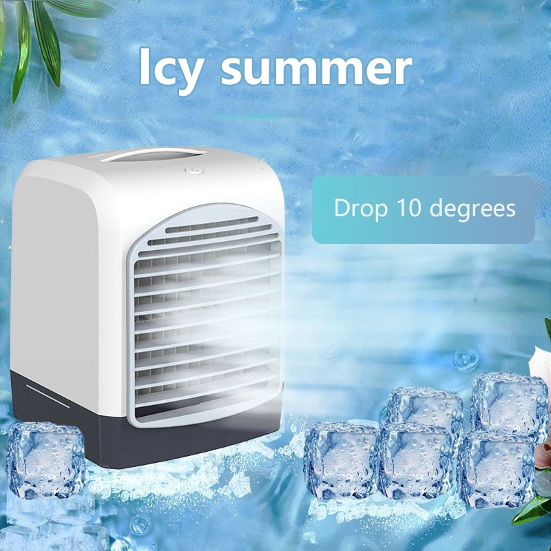 Air Conditioner Air Cooler Humidifier Purifier Portable For Home Room Office Car 3 Speeds Desktop Co