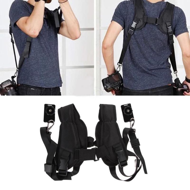 Rápido doble cabestrillo correa de Nylon Durable Cámara llevar cinturones correas para Canon Nikon Sony DSLR Cámara