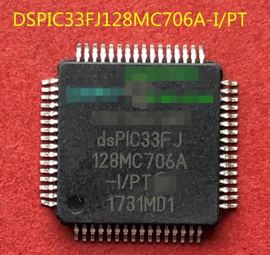 100% nuevo envío gratis DSPIC33FJ128MC706A-I/PT QFP64