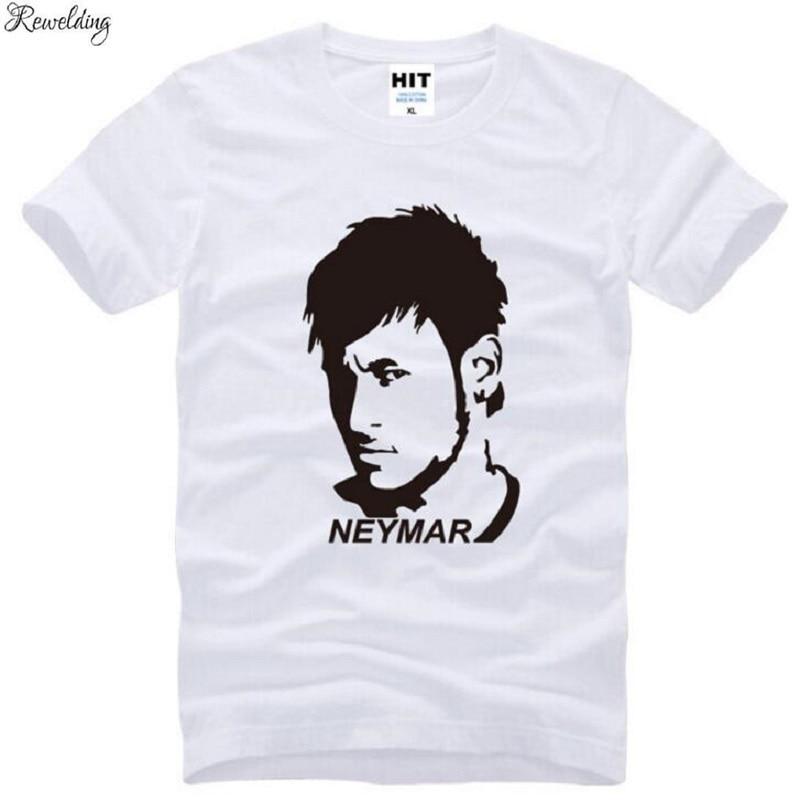 Estrella, Neymar T camisas de moda de los hombres manga corta cuello...