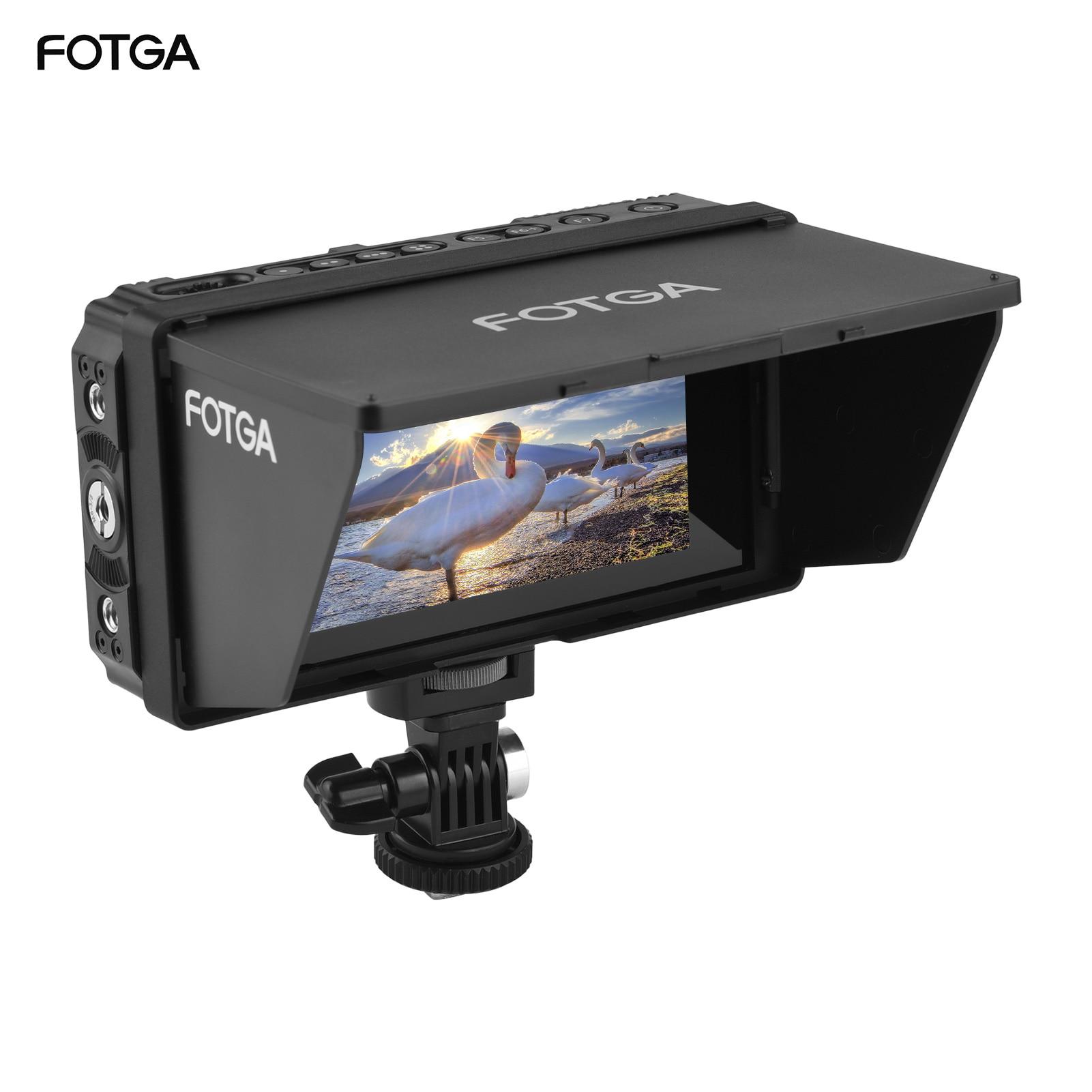 Fotga E50S 4K 5 بوصة رصد على الكاميرا جهاز المراقبة الميدانية التي تعمل باللمس IPS الشاشة 3G-SDI ثلاثية الأبعاد لوت USB ترقية للكاميرا DSLR كاميرا الفيديو