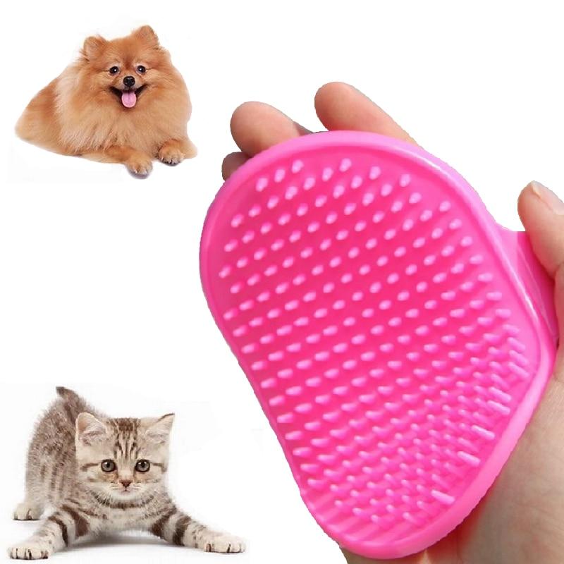 1 Pc Pet Dog Cat Bath Glove Brush Comb Rubber Hair Fur Grooming Massaging Massage Mit Pet Shower Dog