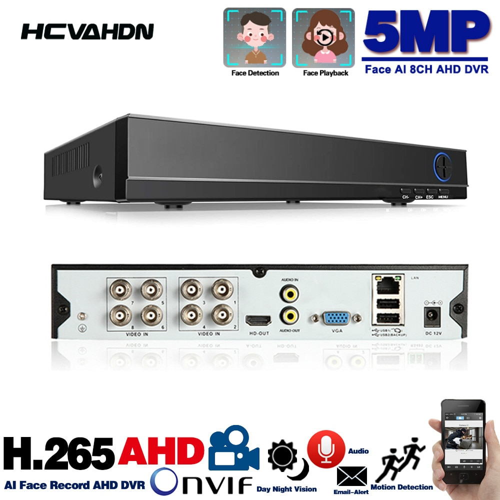 6 in 1 H.265 8 Channel AHD Video Hybrid Recorder for 5MP/4MP/3MP/1080P Camera Xmeye P2P CCTV DVR AHD DVR Support USB Wifi 8ch 8 channel ahd video recorder h 265 5mp 4mp 1080p 5 in 1 hybrid dvr 8ch wifi xvi tvi cvi ip nvr for home cctv camera surveillanc