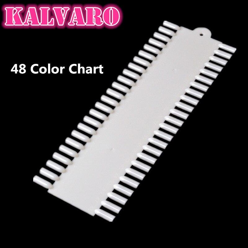Kalvaro 48 Farben Diagramm Spitzt Display Farbfelder Nail art Display Stick Faltbare Praxis Nagel Falsche Halter