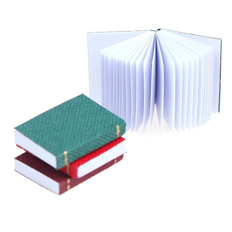 4pcs/set 1/12 Dollhouse Miniature Mini Books Model Furniture Accessories
