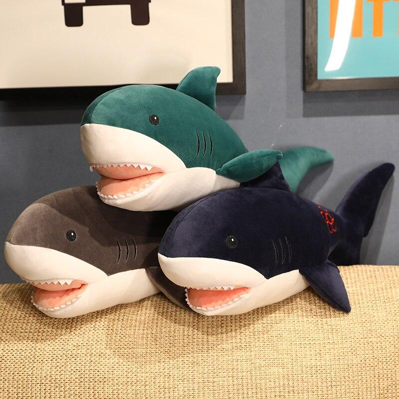 Three-color Shark Warming Hands Cover Soft Shark Doll Stuffed Full Shark Plush Doll Children Birthday Gift Christmas Gift shark