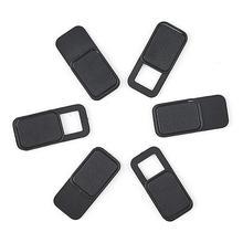6Pcs WebCam Cover Shutter Slider Plastic Camera Cover For IPad Phone PC Laptop Lens Privacy Sticker