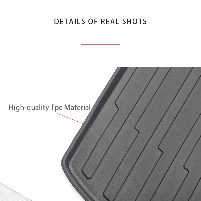 Tesla Model Y Seven-seater Tpe Trunk Cushion And Back Cushion, Waterproof And Wear-resistant, Easy To Clean, 2021 enlarge