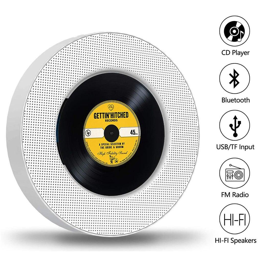 جدار جبل/حامل مكتبي مشغل أقراص مضغوطة بلوتوث متوافق الصوت Boombox راديو التحكم عن بعد المدمج في مكبر هاي فاي مشغل MP3