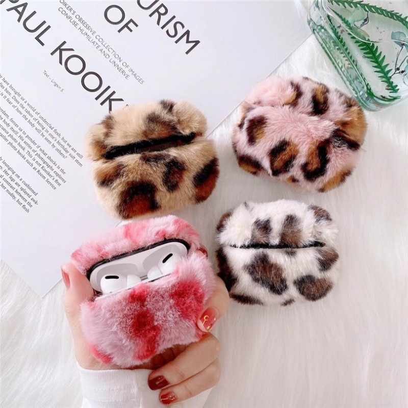 Plush Airpods 1 2 Protective Case Unti-fall Cute Solid Color Cases for 3 Simple Fashion Girls Earphones