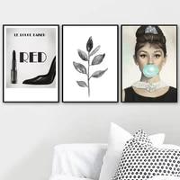 Toile imprimee de Style nordique moderne  affiche de fille de mode  decoration de la maison  peinture murale  images simples pour salon modulaire