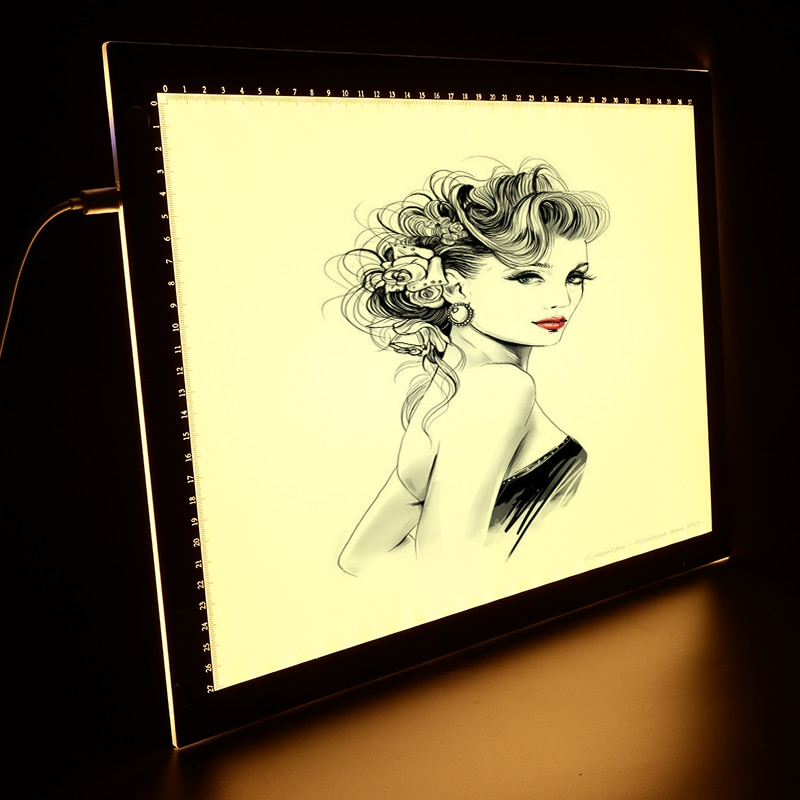 a4 a3 caixa de luz tracer 3 cores modo almofada de luz usb alimentado ultra fino