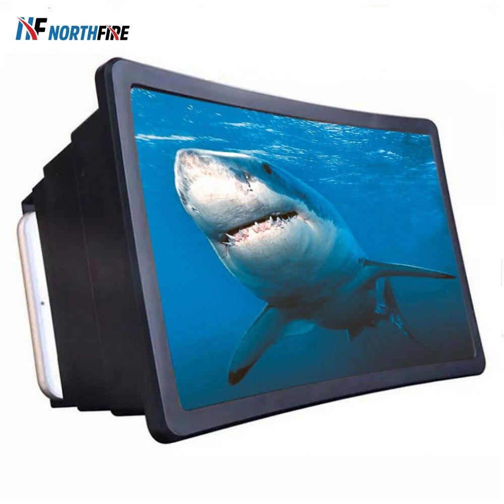 7 polegada universal tela do telefone móvel 3d hd vídeo filme amplificador de ampliação estande projetor ampliado suporte de vidro desktop titular