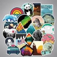 103050pcs new travel outdoor scenery animal cartoon graffiti decoration suitcase guitar waterproof sticker toy wholesale