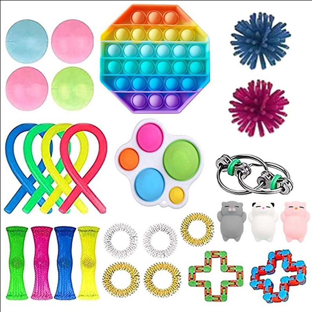 Fidget Toys Pack Anti Stress Toy Set Silicone decompression toys Fidget Antistress Toys Fidget Sensory Toy Set Stress Relief Toy enlarge