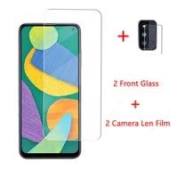 2pcs glass for samsung galaxy f52 tempered glass for samsung galaxy f52 film screen protector anti fingerprint camera len film