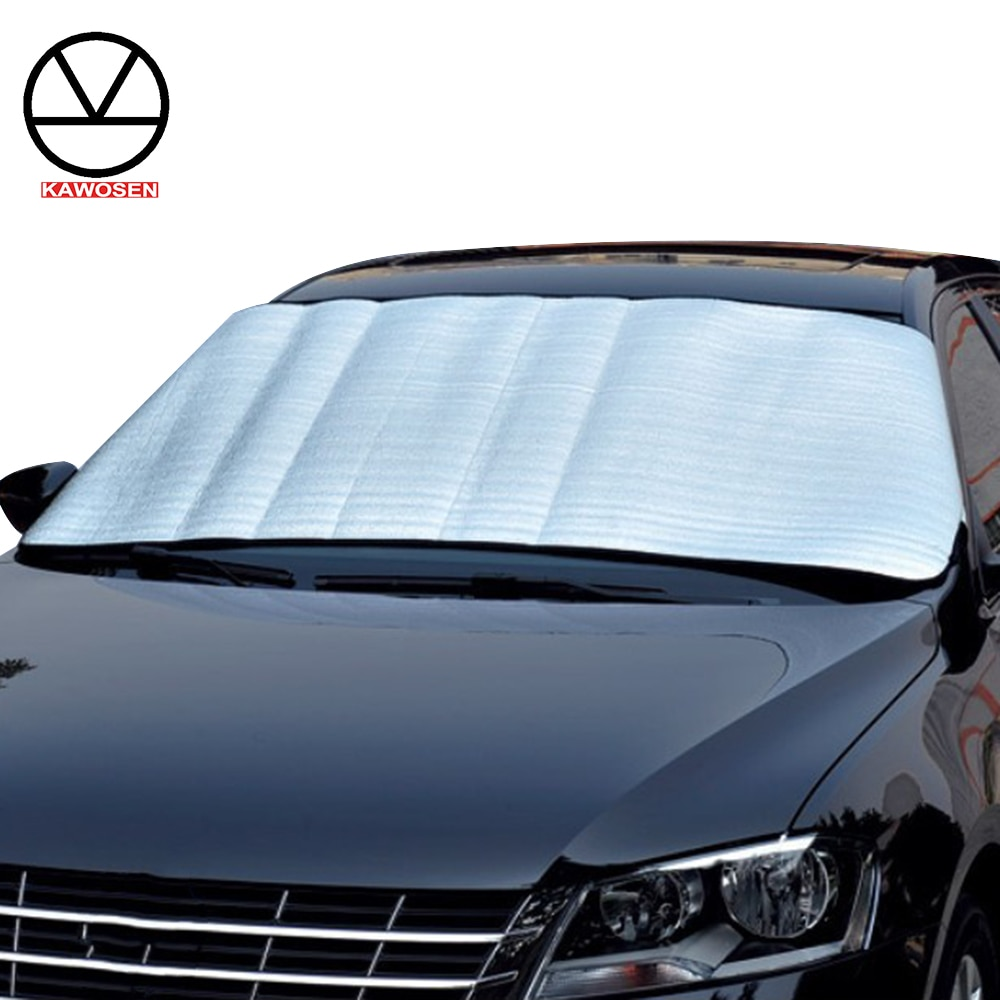 KAWOSEN Universal Car Windshield All Weather Snow Cover & Sun Shade Protection Cover, Sunshade Car Cover Fits Most of Car CWSC02
