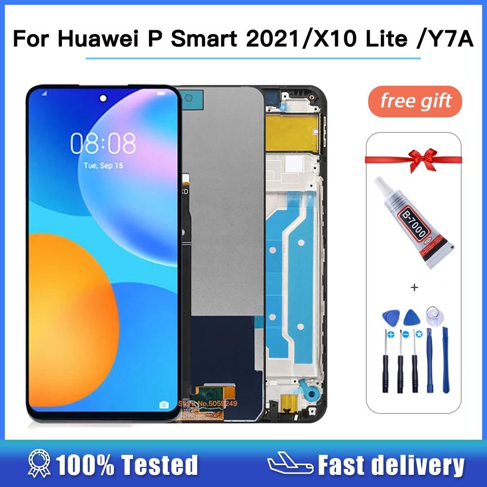 عالية الجودة لهواوي P الذكية 2021 PPA-LX2 شاشة LCD تعمل باللمس محول الأرقام الجمعية لهواوي X10 لايت DNN-LX9 Y7A LCD