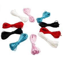 Cute-idea 10M Nylon Cord Colorful Silicone Beads Teething Products DIY Pacifier Chain Baby Teethers
