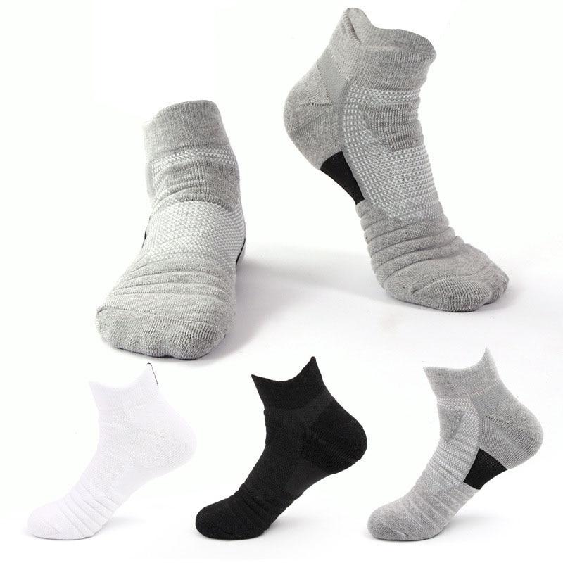 5Pairs Running Stockings Men Short Socks thick Sweat Sweat-Absorbent Outdoor Sports Walking Stockings Basketball Stockings
