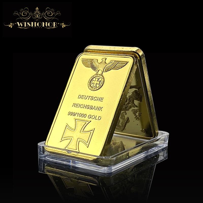 Business Gift For 999 Real Gold Bar Deutsche Reichsbank Gold Bar German Iron Ingot Bar OZ Eagle Cross Collectable