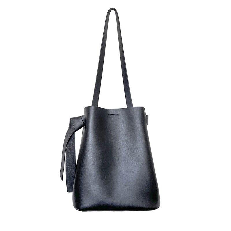 2021 New Women's Bag  Drawstring Bucket Handbags High Quality PU Leather Female Small Bag Designer Youth Shoulder Bag Whole Sale