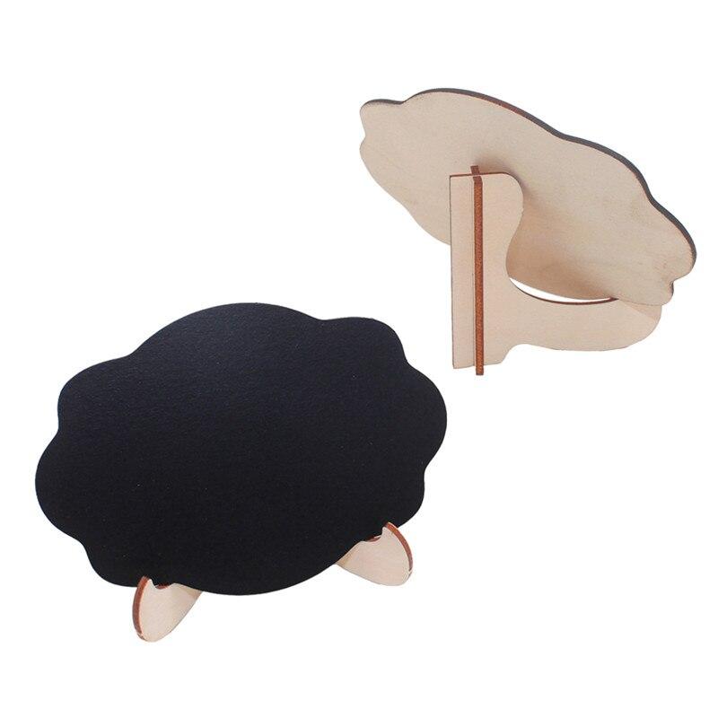 5 unids/lote pizarra pequeña de madera con forma de nube para bodas, fiestas de cumpleaños, tablero de mensajes y decoración de eventos