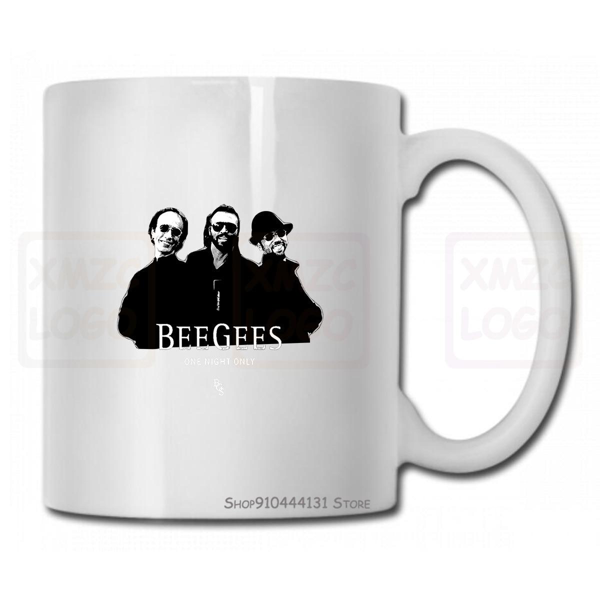 Bee Gees un grupo de música Pop Legend Robin Gibb hombres tazón taza blanca tamaño S3Xl buena calidad Tops caliente barato hombres