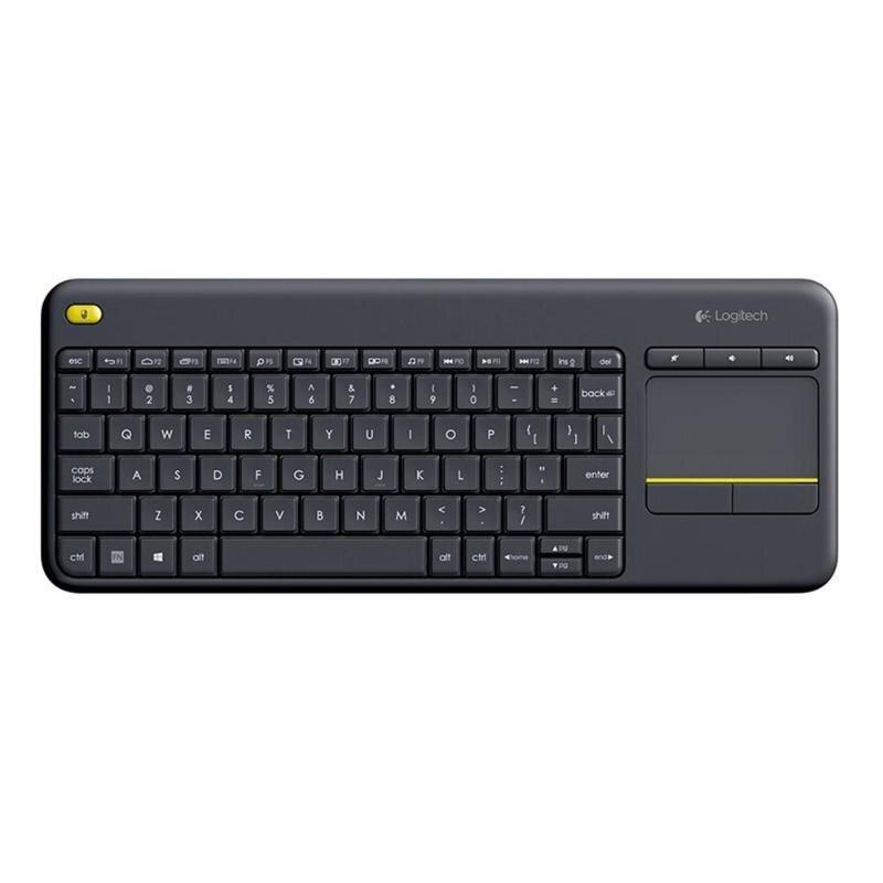 Беспроводная сенсорная клавиатура logitech Plus с сенсорной панелью для ноутбука Uniflying Tech для ПК, ноутбука Android Smart tv HTPC