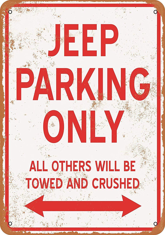 Letrero de Metal 9x12, solo para estacionamiento en Jeep, aspecto Vintage, Color de pared