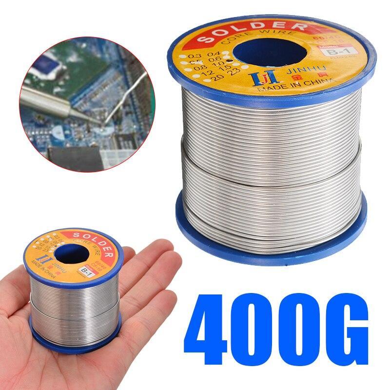 1 قطعة 1.0 مللي متر 400 جرام لحام سلك 60/40 القصدير الرصاص الصنوبري الأساسية 2.0% الجريان لحام خط لحام أداة إصلاح ل لحام الكهربائية