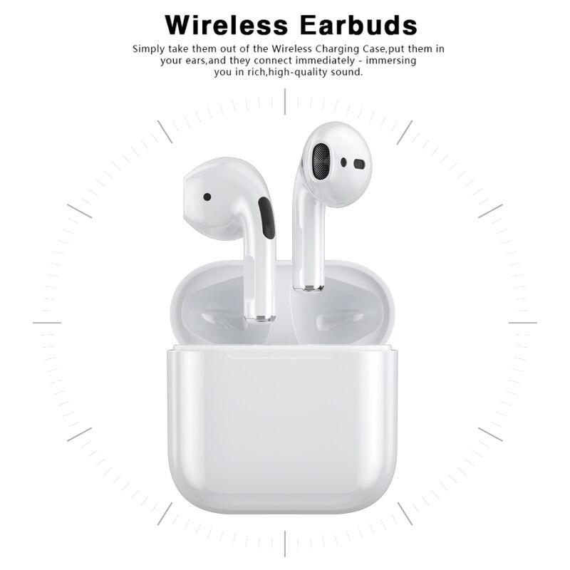 Bluetooth 5.0 Earphones Touch Control Hifi Stereo Wireless Headphones Sport Earpods Wireless Bluetoo