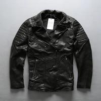 new men avirexfly genuine motorcycle leatehr jacket fashion diagonal zipper vegetable tannin goatskin riding biker jackets
