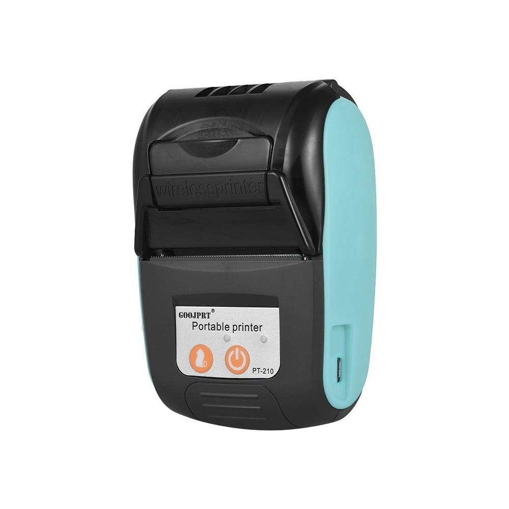 Беспроводной мини-принтер 58 мм, портативный термопринтер для чеков, Bluetooth совместимый с телефоном Android iOS PC, карманные чеки