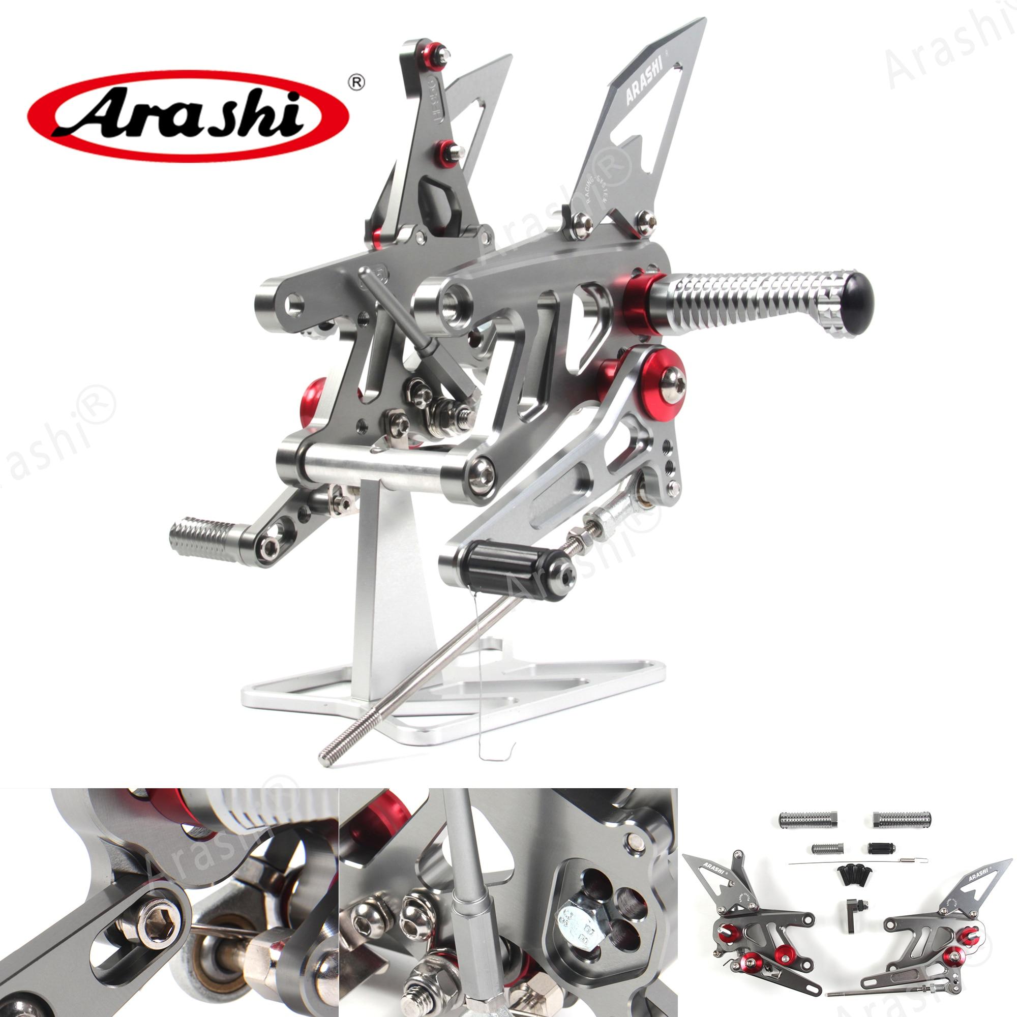 Arashi para APRILIA RSV4 FACTORY APRC ABS 2013-2016 CNC reposapiés ajustables reposapiés RSV 4 2014 2015 SEK SE 2013