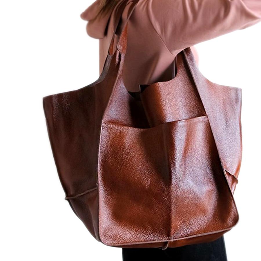 عارضة لينة كبيرة قدرة حمل المرأة حقائب مصمم المسنين المعادن نظرة الفاخرة حقيبة كتف جلدية Pu ريترو كبيرة للمتسوقين المحافظ